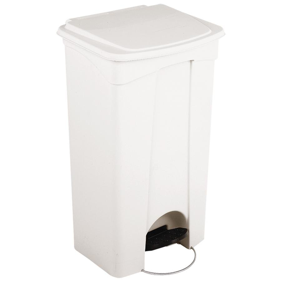 Continental 23WH 23 Gallon White Step On Trash Can