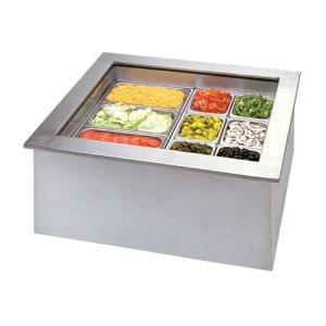APW Wyott ICP-300 Three Pan Drop In Ice Cooled Cold Food Well