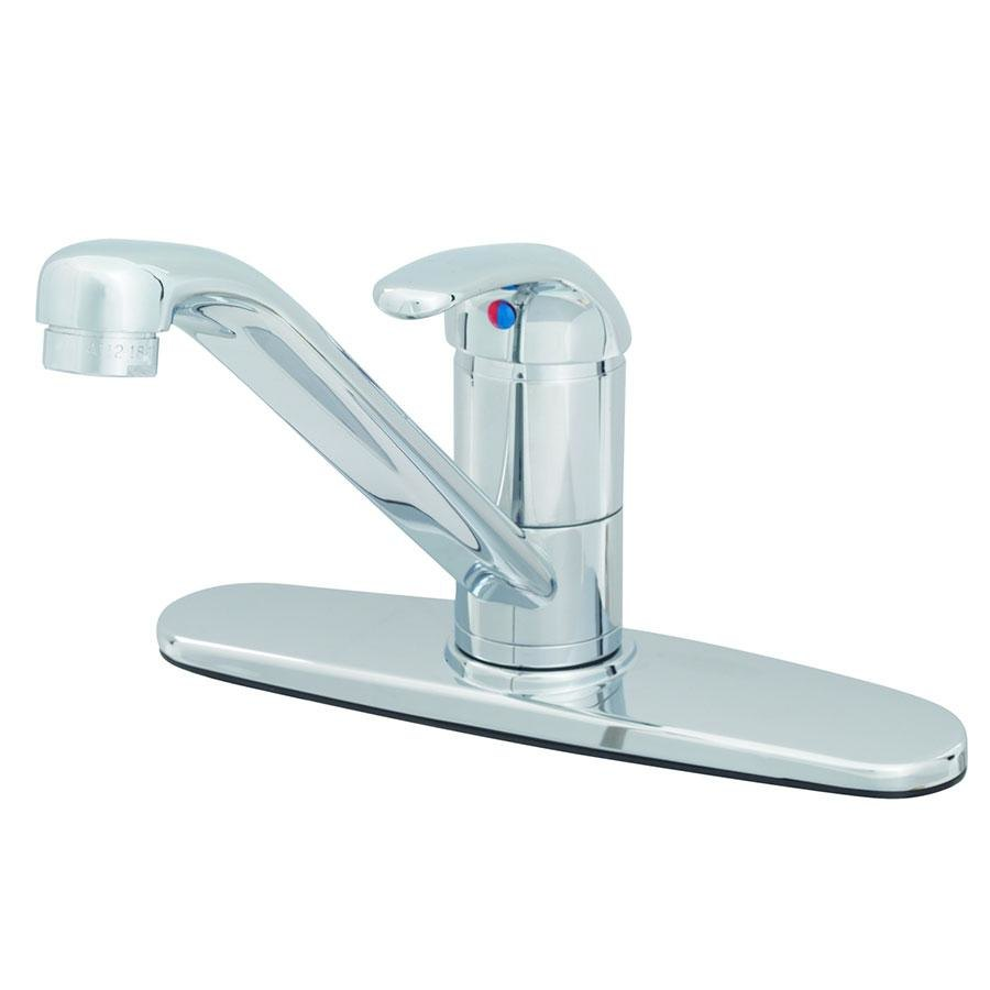 T&S B-2731 Deck Mounted Single Lever Mixing Faucet with 9\