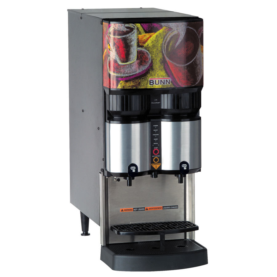 Bunn LCA-2 PC Ambient Liquid Coffee Dispenser with Portion Control and LiquiBox QC/D II Connector - 120V (Bunn 36500.0003)