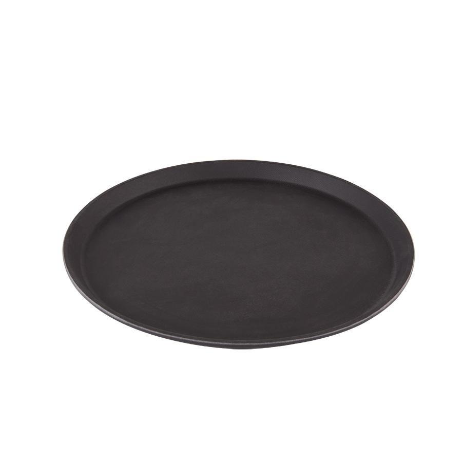 """Cambro 1400TL110 Treadlite Black 14"""" Round Non-Skid Fiberglass"""