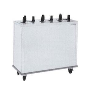 "Delfield CAB3-500ET Even Temp Mobile Enclosed Three Stack Heated Dish Dispenser / Warmer for 3"" to 5"" Dishes - 208V"