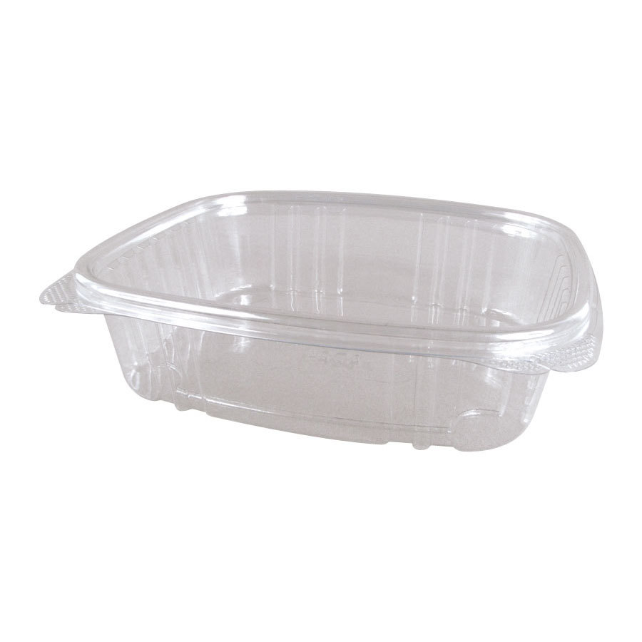 "Genpak AD24 7 1/4"" x 6 3/8"" x 2 1/4"" 24 oz. Clear Hinged Deli Container - 200 / Case at Sears.com"