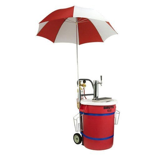 Micro Matic Mobile Draft Cart with Chrome ABS Draft Tower and Umbrella