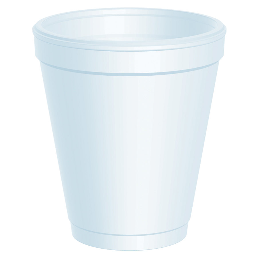 Dart 8J8 8 oz. Customizable White Foam Cup 1000/Case