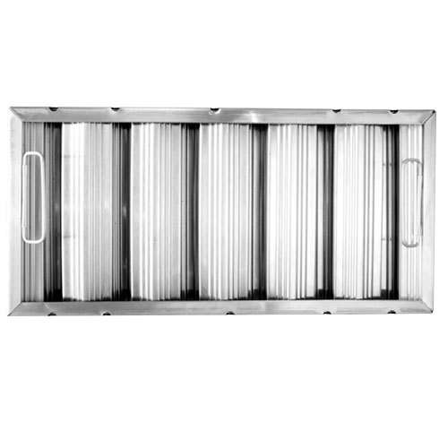 "All Points 26-3889 10"" x 20"" x 2"" Stainless Steel Hood Filter - Ridged Baffles"