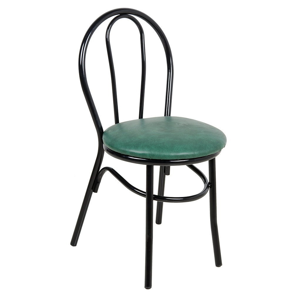 "Lancaster Table & Seating Green Hairpin Cafe Chair with 1 1/4"" Padded Seat"