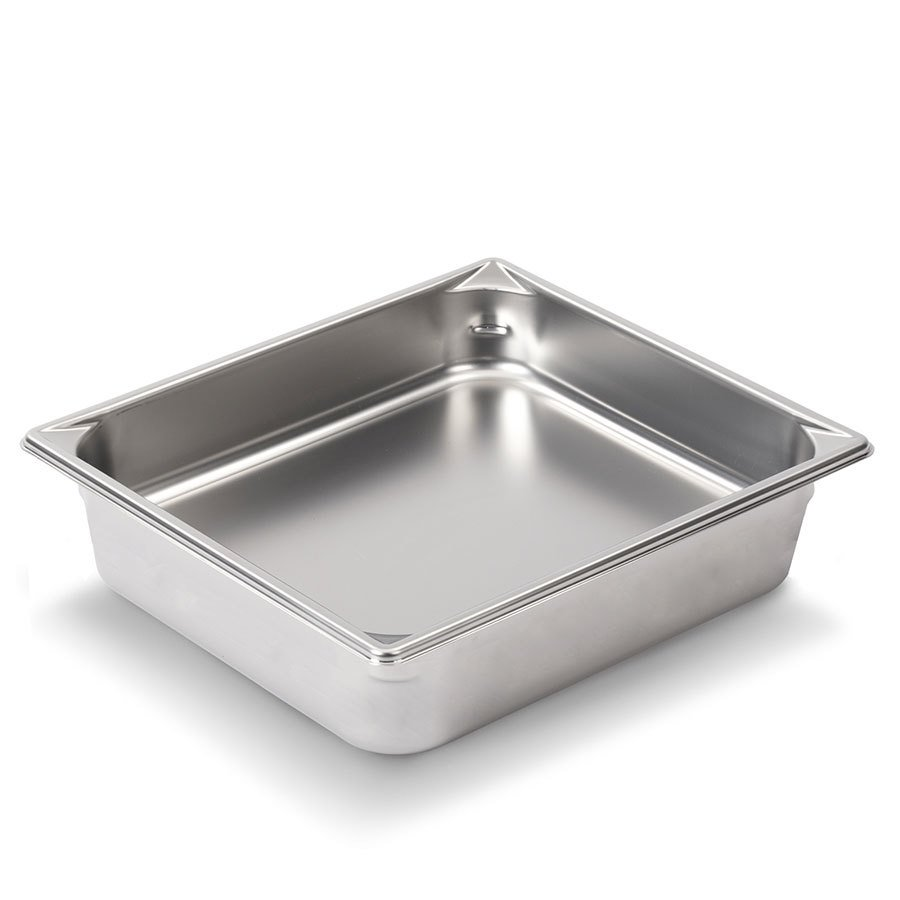 Vollrath Super Pan V 30242 1/2 Size Stainless Steel Anti-Jam Steam Table / Hotel Pan - 4 inch Deep