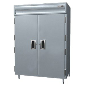 Delfield Stainless Steel SSH2N-S 43.94 Cu. Ft. Solid Door Two Section Narrow Reach In Heated Holding Cabinet - Specification Line