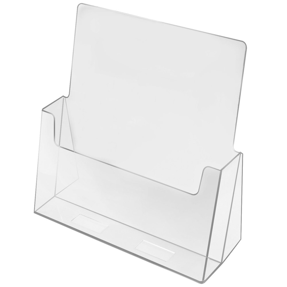 "Cal-Mil 210 Brochure Holder - 8 1/2"" x 1 1/2"" x 10"""