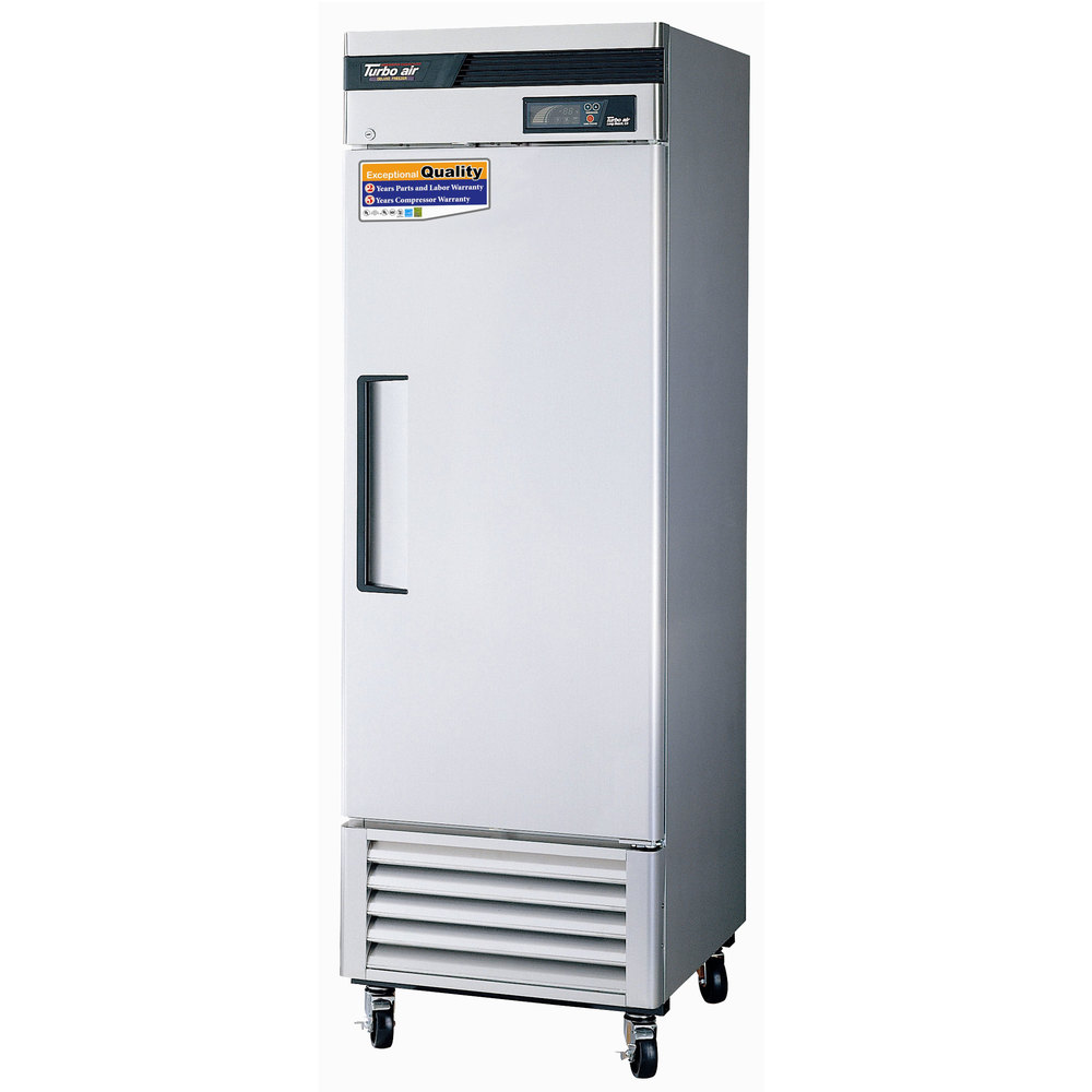 """Turbo Air TSR-23SD 27"""" Super Deluxe One Section Solid Door Reach in Refrigerator - 23 Cu. Ft."""