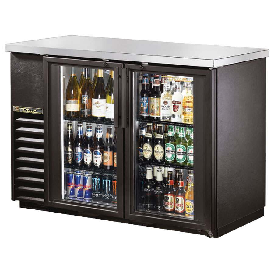 "True Refrigeration True TBB-24-48G 48"" Back Bar Refrigerator with Glass Doors at Sears.com"