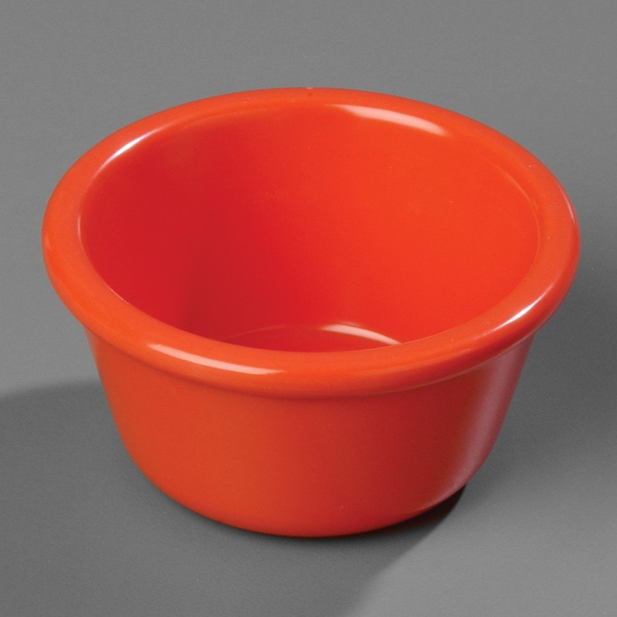 Sunset Orange Carlisle S28552 4 oz. Smooth Melamine Ramekin 48/Case