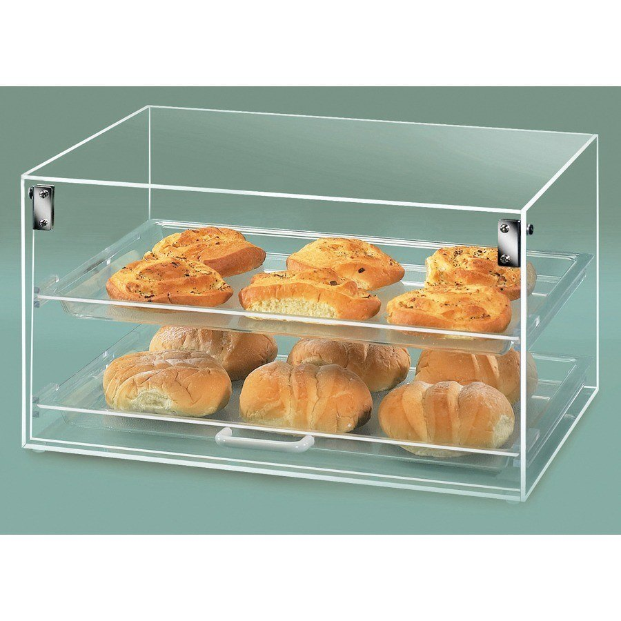 Cal Mil 921 Straight Front Stackum Case with One Door and 2 Shelves 18 1/2 inch x 14 inch x 10 inch