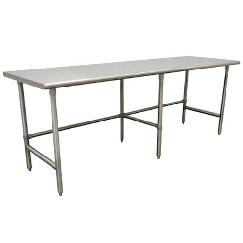 "Advance Tabco TSAG-2411 24"" x 132"" 16 Gauge Open Base Stainless Steel Work Table"