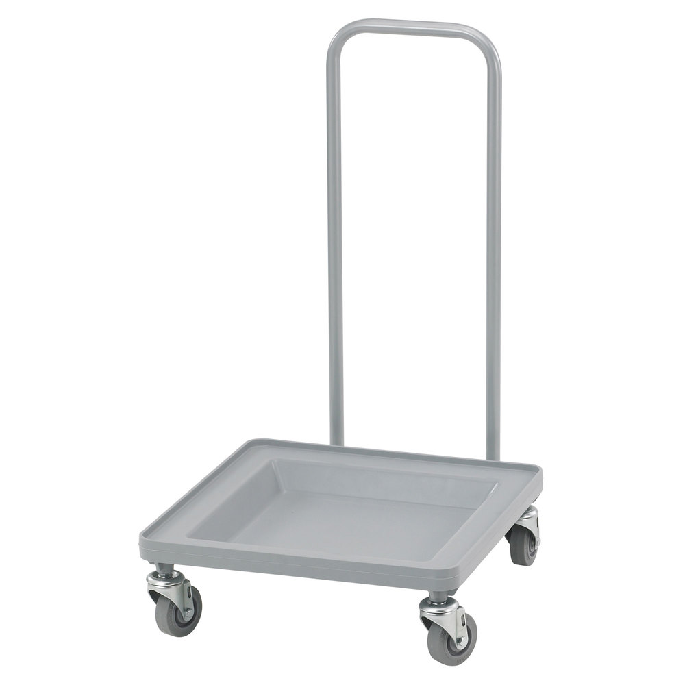 Cambro CDR2020H Soft Gray Camdolly Dish / Glass Rack Dolly with Handle