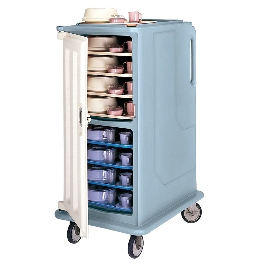 Cambro MDC1520T16401 Slate Blue 2 Compartment Meal Delivery Cart 16 Tray