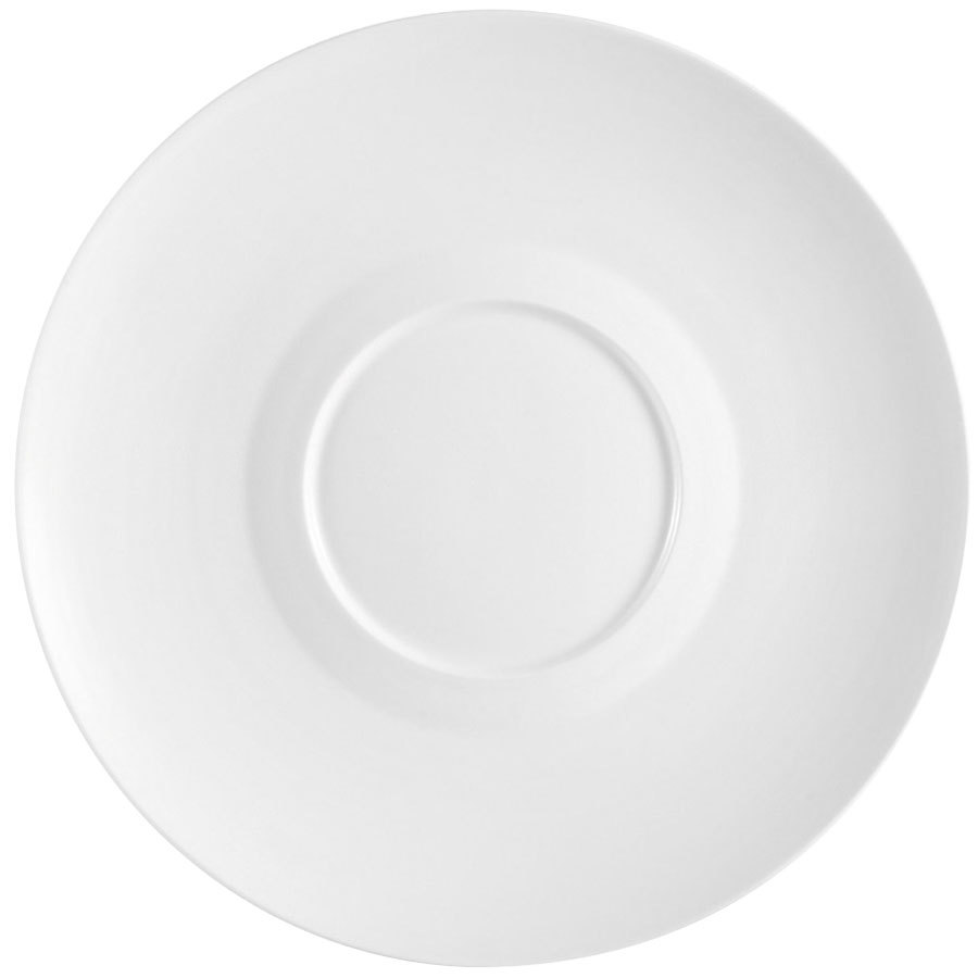 "CAC FDP-21 Paris French 12"" Bone White Round Porcelain Design Plate - 12/Case"