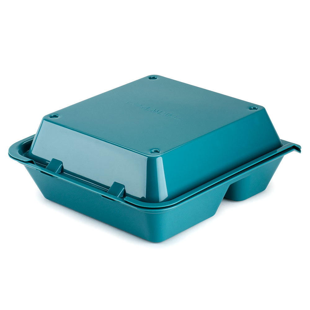 take out containers aqua get ec 01 3 compartment reusable eco takeouts 12074