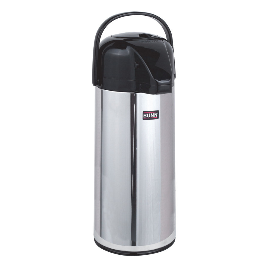 Bunn 28696.0006 Zojirushi 2.2 Liter Glass Lined Push Button Airpot