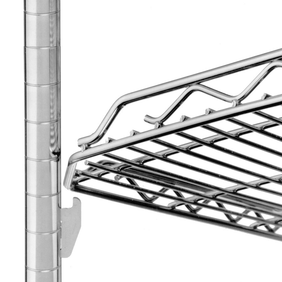 "Metro HDM2448QBR qwikSLOT Drop Mat Super Erecta Brite Wire Shelf - 24"" x 48"""