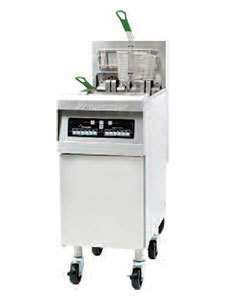 Frymaster 208V 3 Phase Frymaster RE14BLC-SD 50 lb. High Efficiency Electric Floor Fryer with Computer Magic Controls and Basket Lifts - 14 at Sears.com