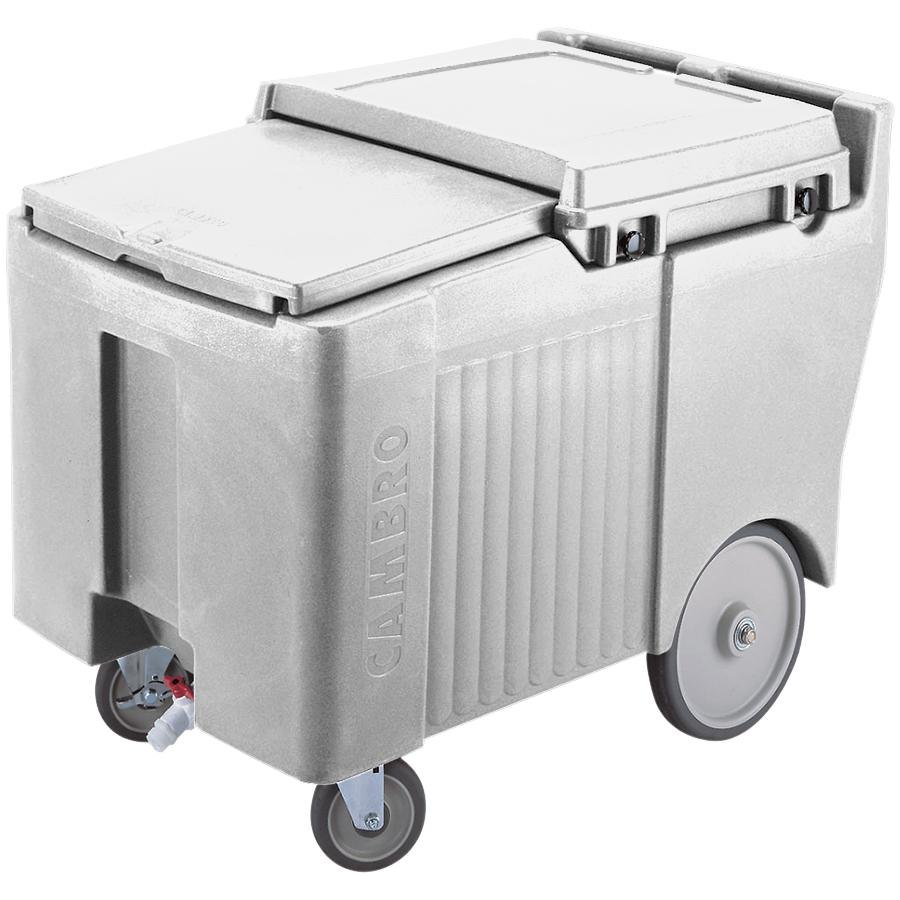 Cambro ICS125LB180 Light Gray Sliding Lid Portable Ice Bin - 12