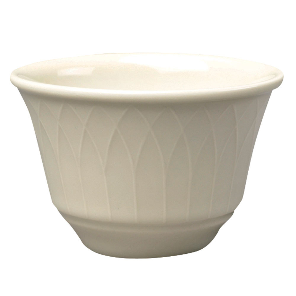 Homer Laughlin 7000-330 Gothic 7 oz. American White (Ivory / Eggshell) China Bouillon - 36 / Case