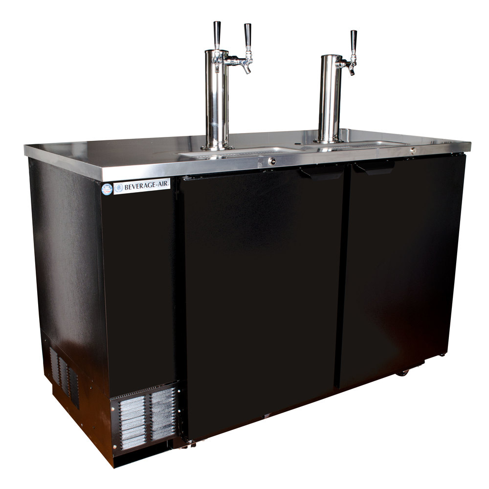 "Beverage Air (Bev Air) DD58-1-B Black Beer Dispenser 59"" - 3 Keg Kegerator at Sears.com"