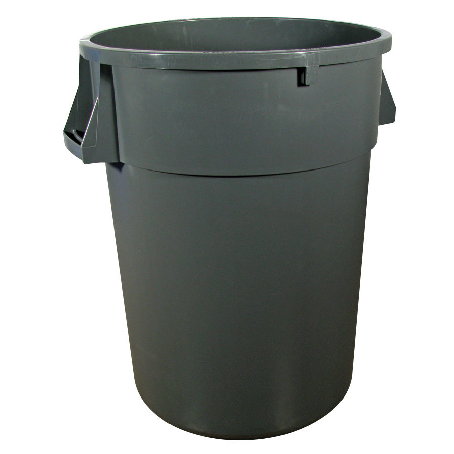 Continental 4444GY 44 Gallon Gray Huskee Trash Can