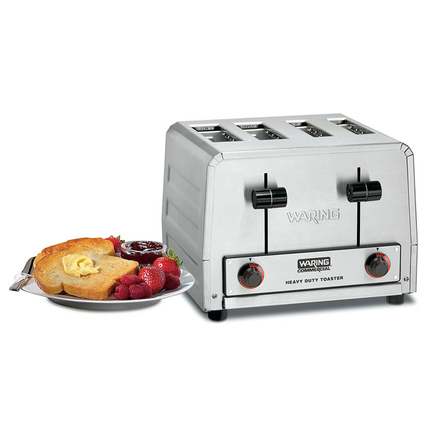 Waring WCT815B Heavy Duty Combination Toaster and Bagel Toaster 4 Slice - 208V