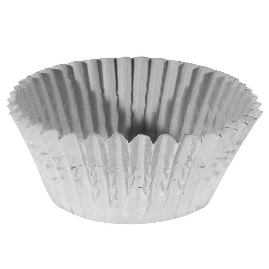 Ateco 6432 2 inch x 1 1/4 inch Silver Baking Cups 200 / Box (August Thomsen)