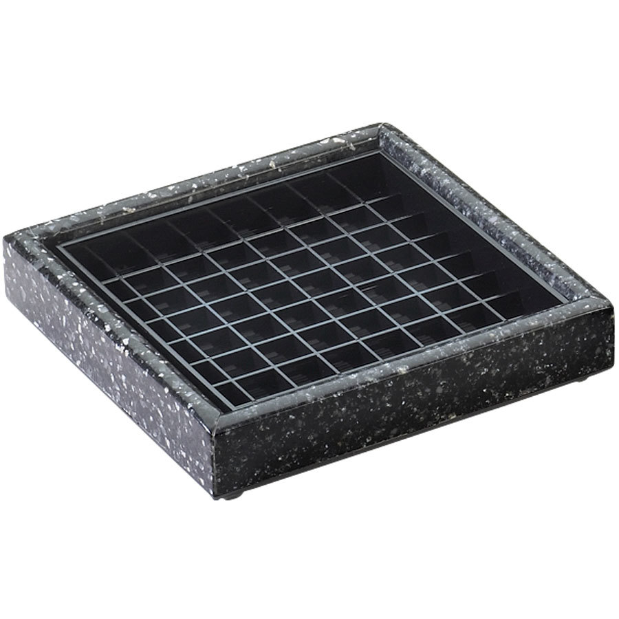 "Cal-Mil 330-6-31 6"" Black Ice Square Drip Tray"