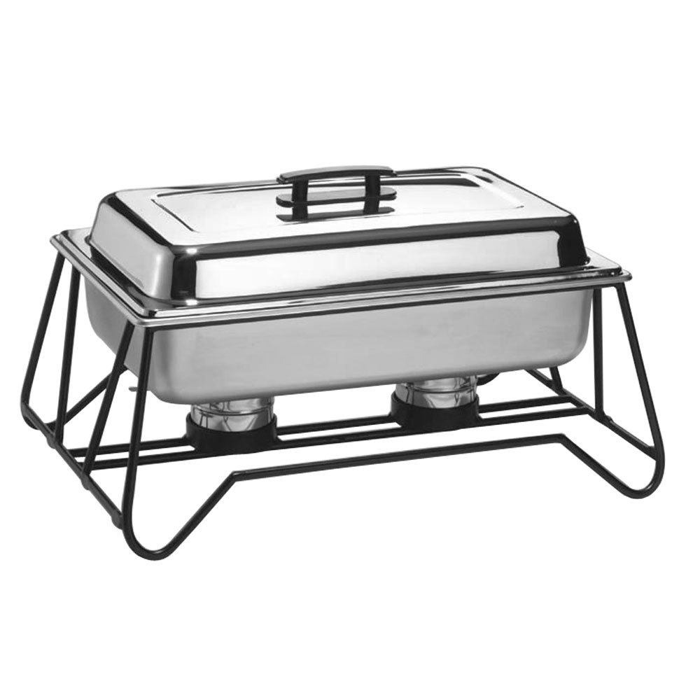 American Metalcraft SCF2 Full Size Stackable Wrought Iron Chafer Stand