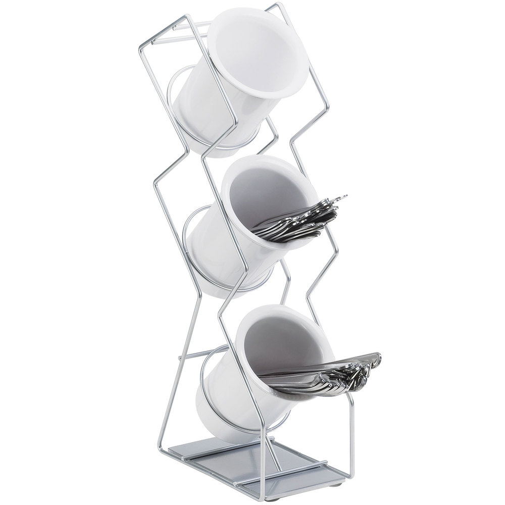 Cal-Mil 1025-3-39 Silver Three Compartment Vertical Wire Display