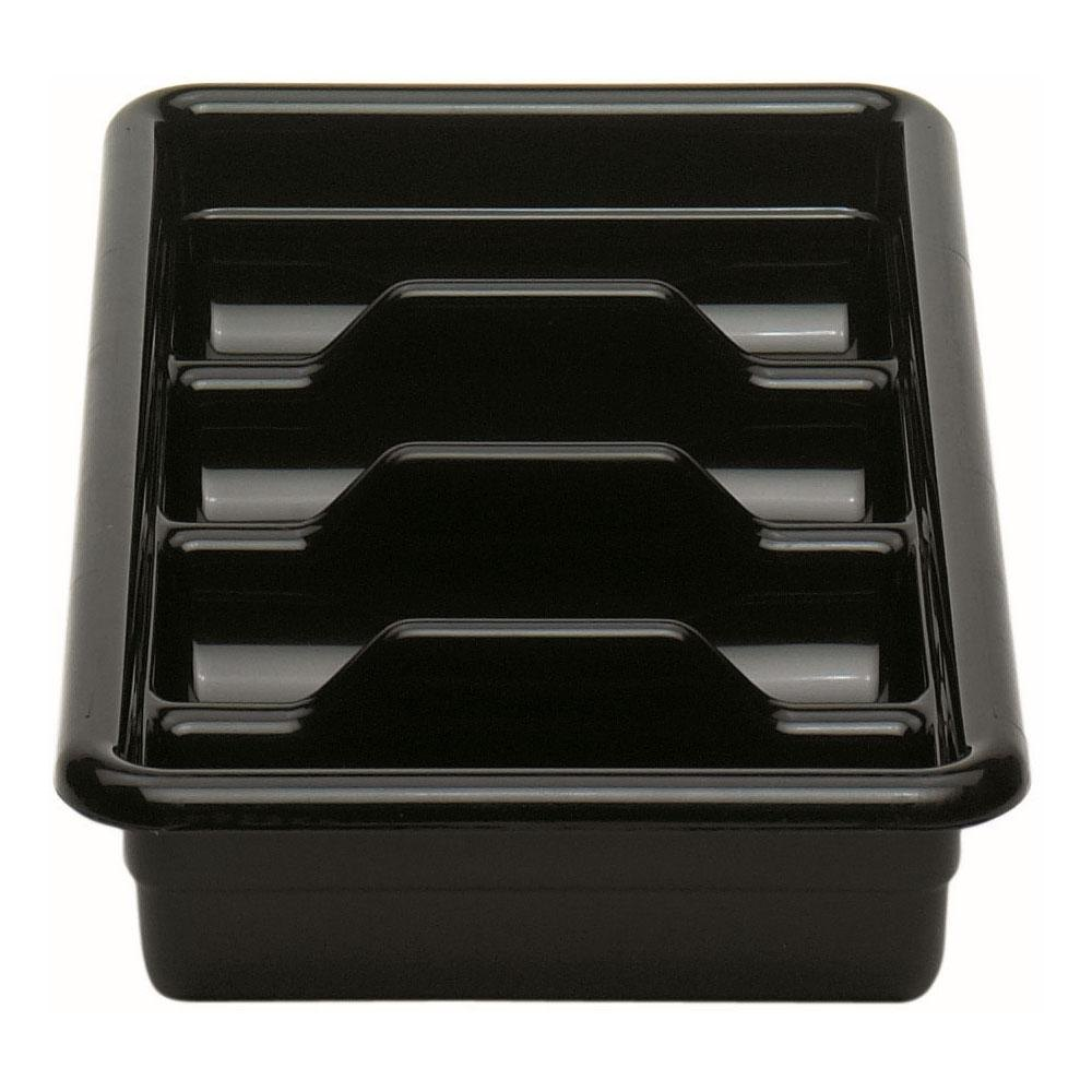 Black Cambro 1120CBP110 4 Compartment Cutlery Box 11 inch x 20 inch