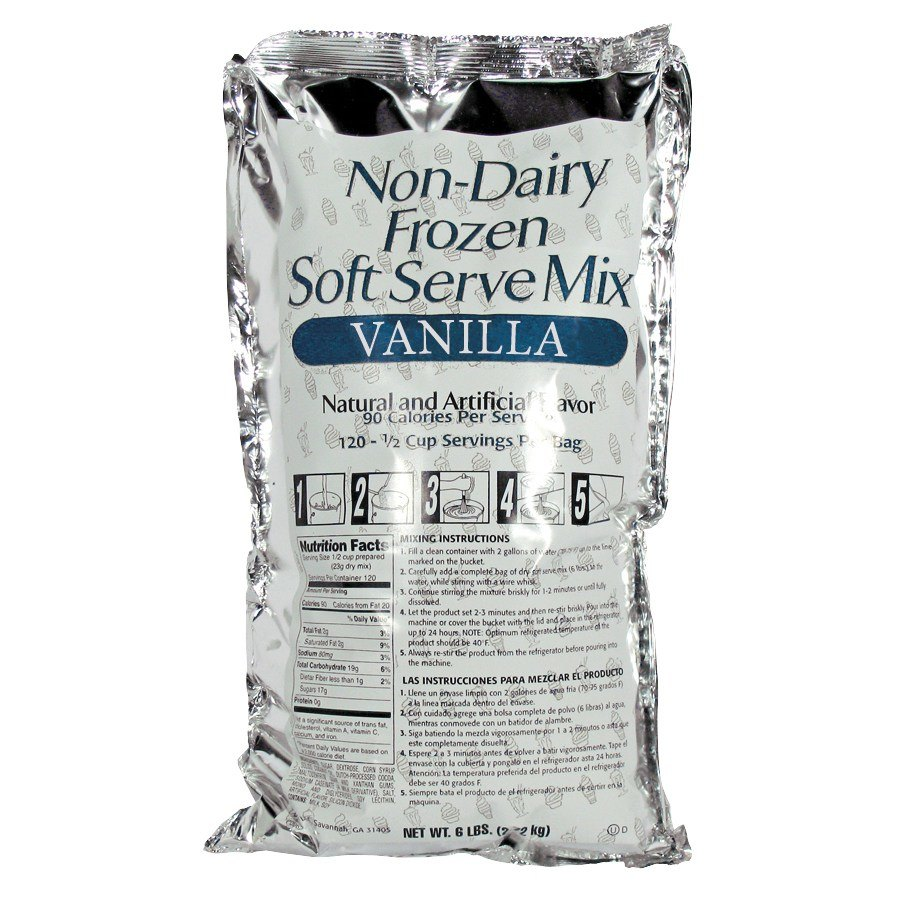 Vanilla Soft Serve Ice Cream Mix - Non-Dairy 6 / Case