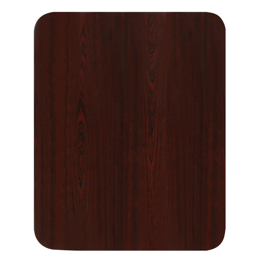 24 inch x 30 inch Laminated Rectangular Table Top Reversible Cherry / Black