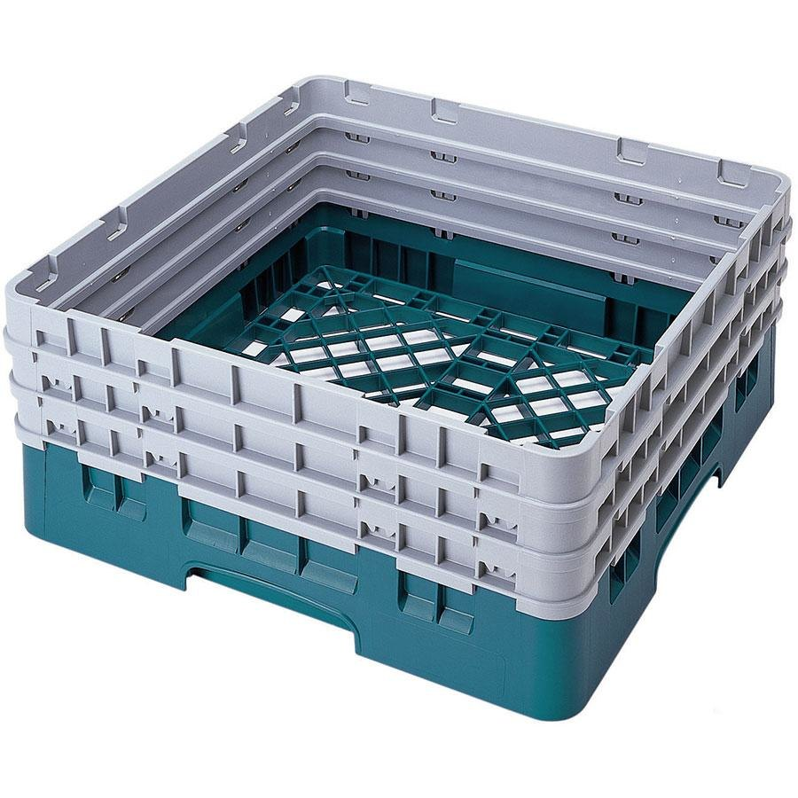 Cambro BR712414 Teal Camrack Full Size Open Base Rack with 3 Extenders