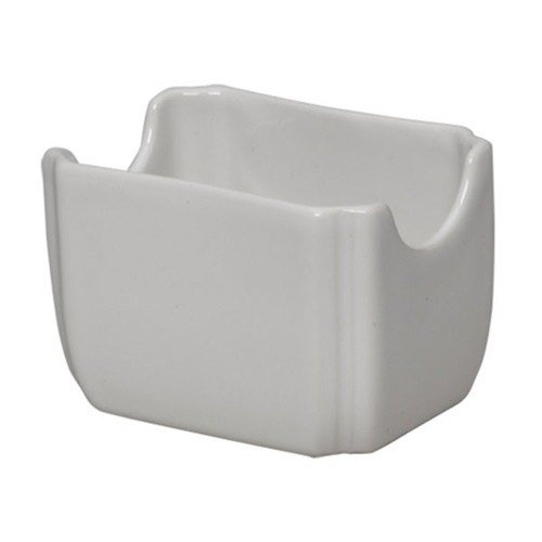 Homer Laughlin 479100 Fiesta White 3 1/2 inch x 2 3/8 inch Sugar Caddy - 12 / Case