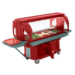 Cambro VBRU5158 Hot Red 5' Versa Ultra Food / Salad Bar with Storage and Standard Casters at Sears.com