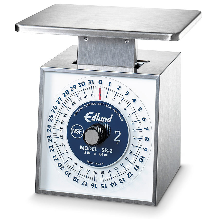 Edlund SR-2 OP 32 oz. Stainless Steel Mechanical Portion Scale with Stainles