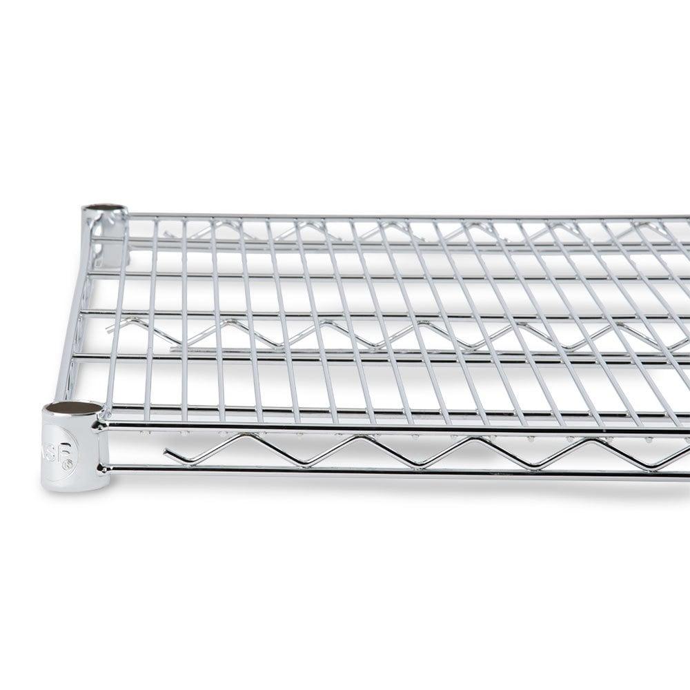 chrome wire shelving regency 18 x 24 nsf chrome wire shelf. Black Bedroom Furniture Sets. Home Design Ideas