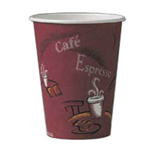 Solo 378SI-0041 8 oz. Bistro Paper Hot Cup 1000 / Case