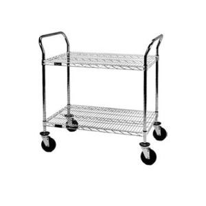 """Eagle Group U2-1836C 18"""" x 36"""" Chrome Heavy Duty Two Shelf Utility Cart at Sears.com"""