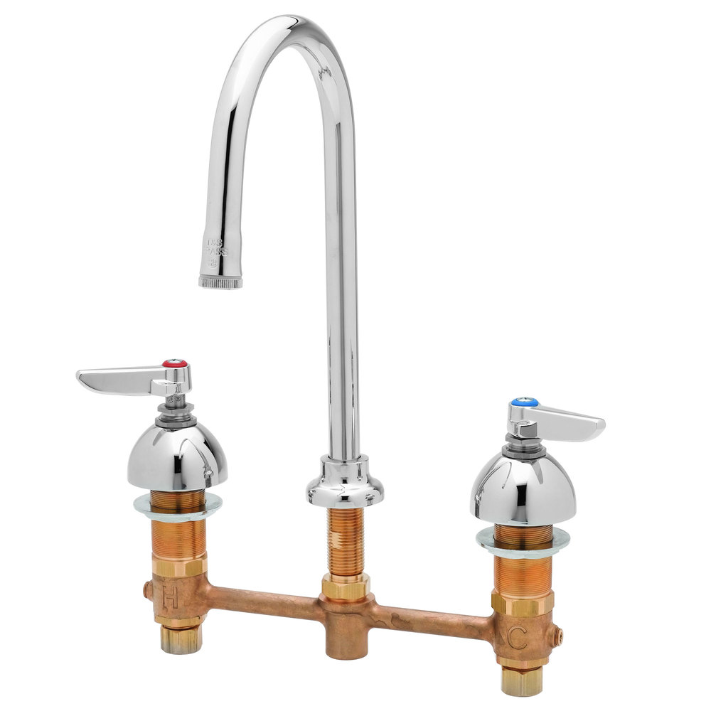T&S B-2851-L EasyInstall Deck Mount Concealed Lavatory Faucet with ...