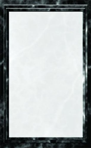 "8 1/2"" x 11"" Black Menu Paper - Marble Border - 100/Pack"