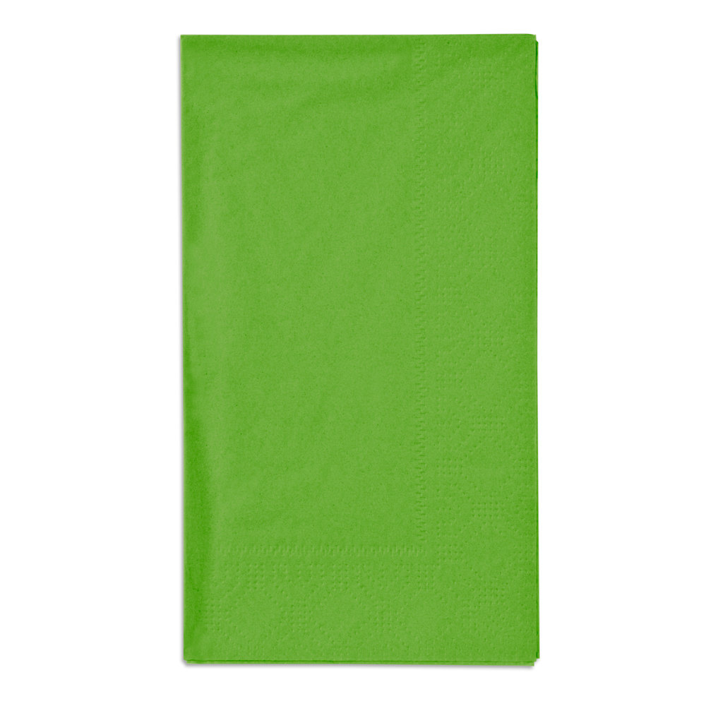 "Fresh Lime Green Paper Dinner Napkins, 2-Ply, 15"" x 17"" - Hoffmaster 180561 - 1000/Case"
