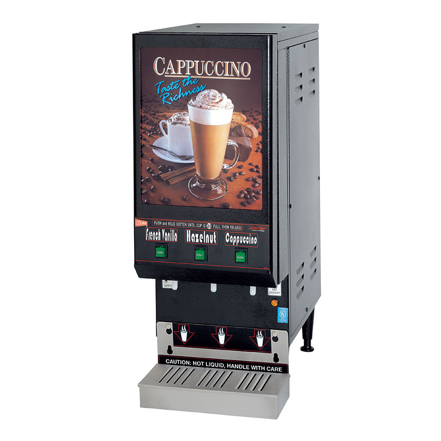 Cecilware GB3LP 3 Flavor Cappuccino Dispenser - 120V