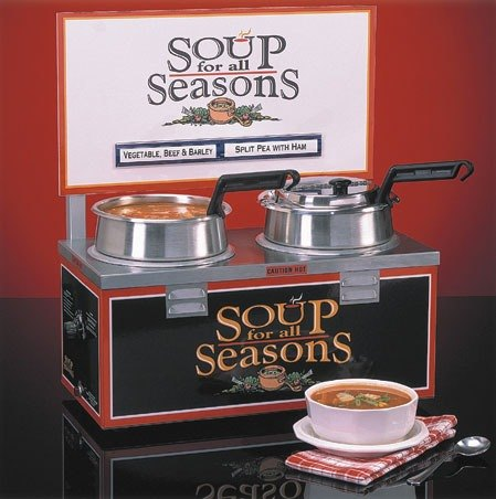 Nemco 6510a 2d4 Double Well 4 Qt Soup Warmer With Header